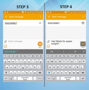 Samsung Galaxy S5 Active Send Text 3-4