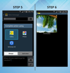 Samsung Galaxy S3 Send MMS 5-6