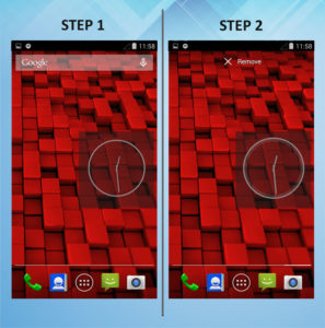Motorola Droid Ultra Remove Widget 1-2