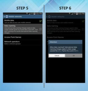 Samsung Galaxy Mega 6.3 Roaming 5-6