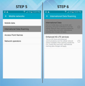 Samsung Galaxy S5 Active Roaming 5-6