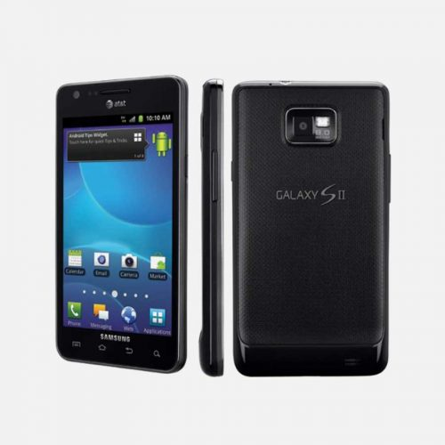 Samsung Galaxy S2 Black Back Side and Front