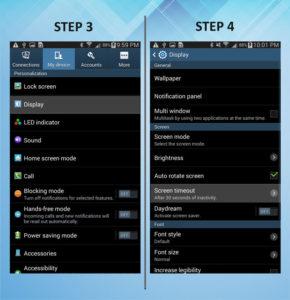 Samsung Galaxy Mega 6.3 Screen Timeout 3-4