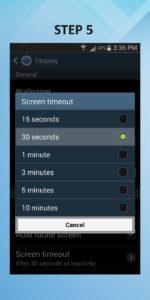 Samsung Galaxy S3 Screen Timeout 5