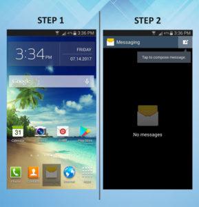Samsung Galaxy S3 Send Text 1-2
