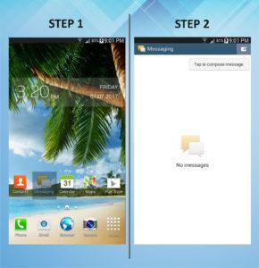 Samsung Galaxy Mega 6.3 Send Text 1-2