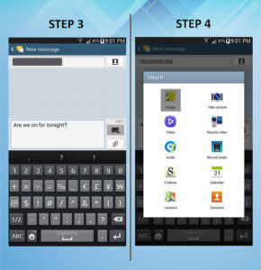 Samsung Galaxy Mega 6.3 Send Text 3-4