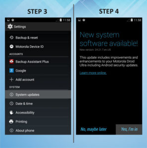 Motorola Droid Ultra Update Software version 3-4