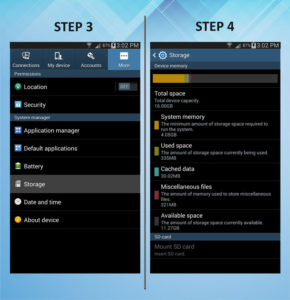 Samsung Galaxy Mega 6.3 Storage 3-4