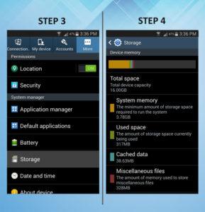 Samsung Galaxy S3 Storage 3-4