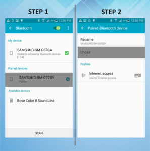 Samsung Galaxy S5 Active Unpair Bluetooth 1-2
