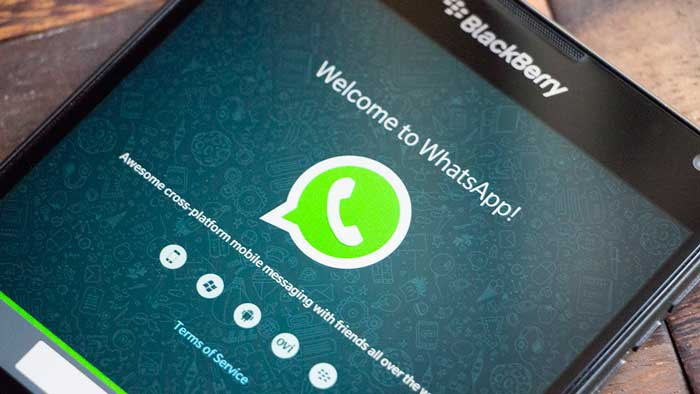 Welcome to Whatsapp on a Blackberry