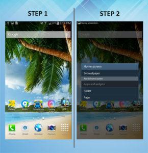 Samsung Galaxy Mega 6.3 Add Widget 1-2