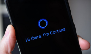 Smartphone with Cortana listening