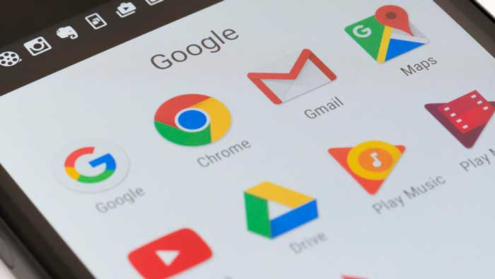 Many Google apps in smartphone