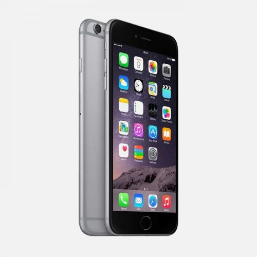 iPhone 6 Plus Space Gray Front and Back Tilted