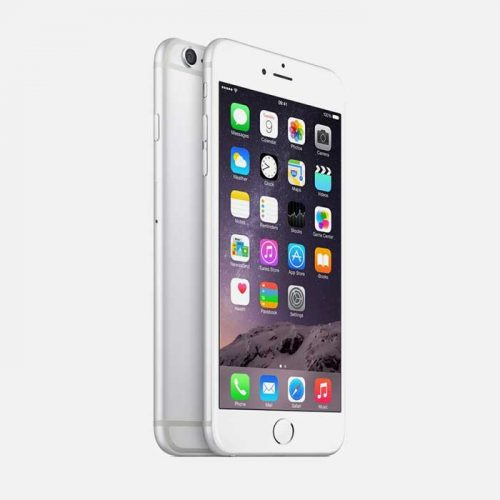 iPhone 6 Plus White Front and Back Tilted