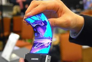 Bending a Samsung screen