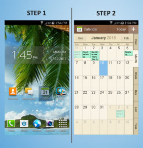 Samsung Galaxy S4 Mini Calendar 1-2