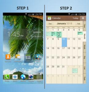 Samsung Galaxy S4 Mini Calendar 1-2