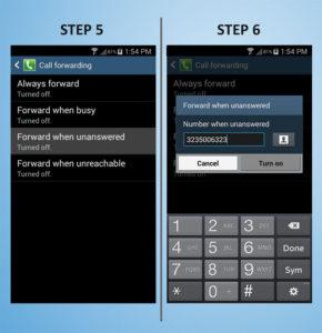 Samsung Galaxy S4 Mini Call FWD 5-6