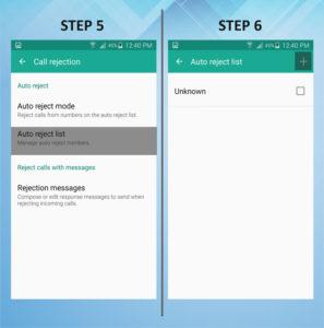 Samsung Galaxy S5 Active Caller Reject 5-6