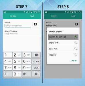 Samsung Galaxy S5 Active Caller Reject 7-8