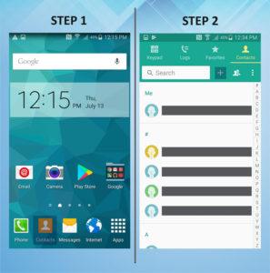 Samsung Galaxy S5 Active Create Contact 1-2