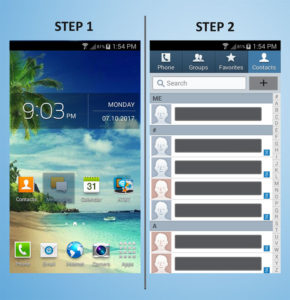 Samsung Galaxy S4 Mini Create Contact 1-2