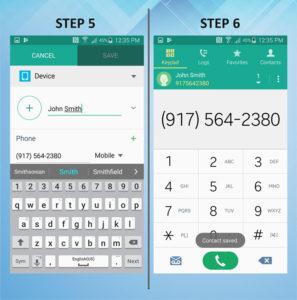 Samsung Galaxy S5 Active Create Contact (2) 5-6