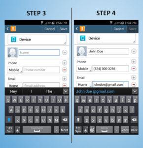 Samsung Galaxy S4 Mini Create Contact 3-4