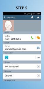 Samsung Galaxy S4 Mini Create Contact 5