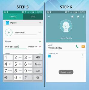 Samsung Galaxy S5 Active Create Contact 5-6