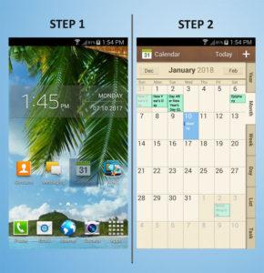 Samsung Galaxy S4 Mini Delete Calendar 1-2