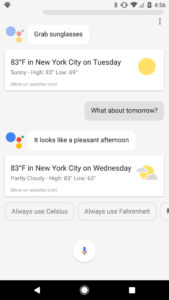 Smartphone Screenshot with Google Assistant