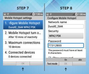 Kyocera DuraXE As A Mobile Hotspot 7-8