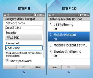 Kyocera DuraXE As A Mobile Hotspot 9-10
