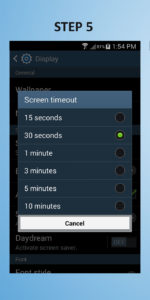 Samsung Galaxy S4 Mini Screen Timeout 5
