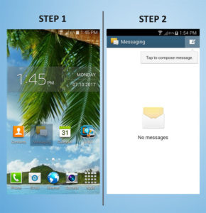 Samsung Galaxy S4 Mini Text 1-2