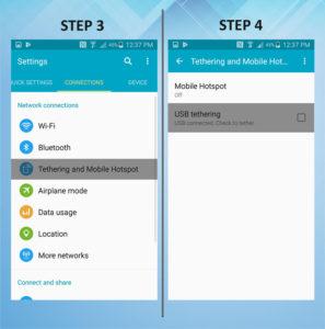 Samsung Galaxy S5 Active USB Tethering 3-4