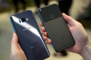 Comparing two device, google pixel 2 and samsung s8
