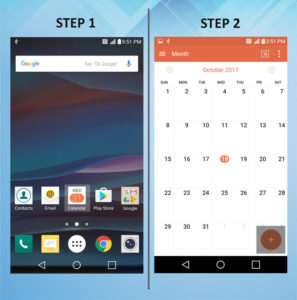 Troubleshooting the LG K8 Create Calendar Event 1-2
