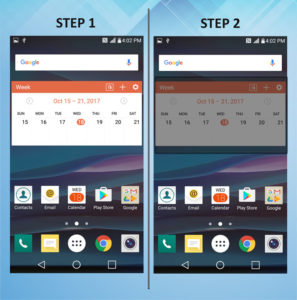 Troubleshooting the LG K8 Remove Widget 1-2