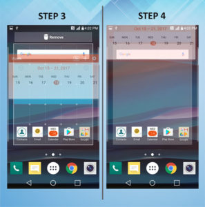 Troubleshooting the LG K8 Remove Widget 3-4
