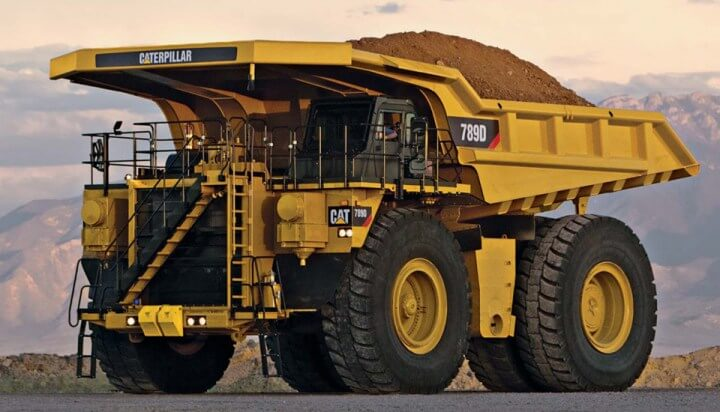 Yellow Caterpilar Dump Truck