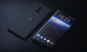 Nokia 2 front and black on blue