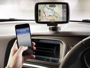 Managing car navigation system from smartphone