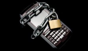 Cell phone locked up with a chain