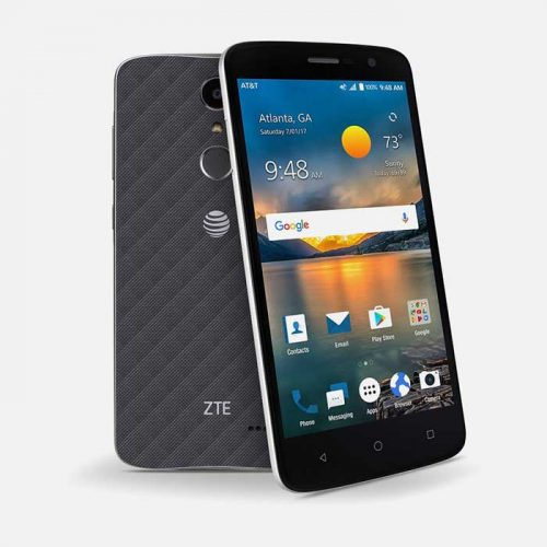 ZTE Blade Spark front and back tilted