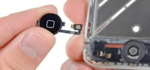 Replacing a home button on a smartphone
